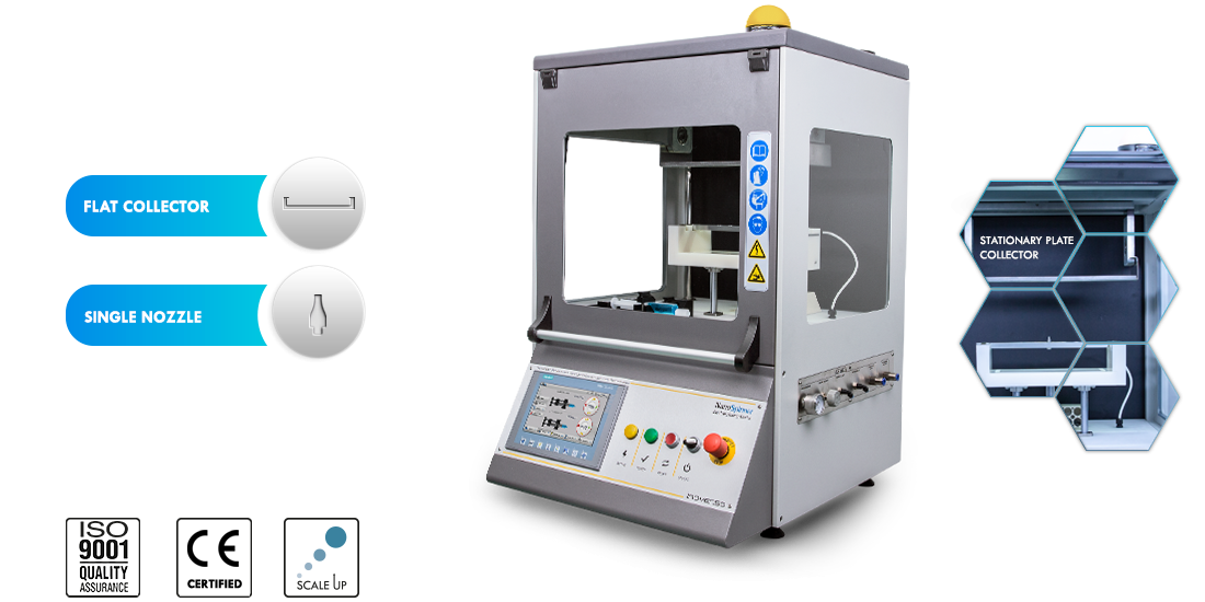 NS_100_electrospinning_machine_inovenso_nanofiber_plate_collector_nozzles